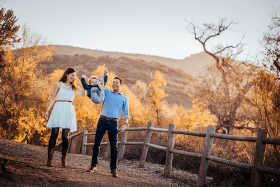Family photography session in Mission Trails Park, San Diego, CA
