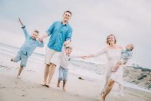 San Diego beach family photography