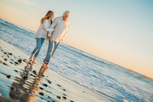 Beach engagement photographer in San Diego
